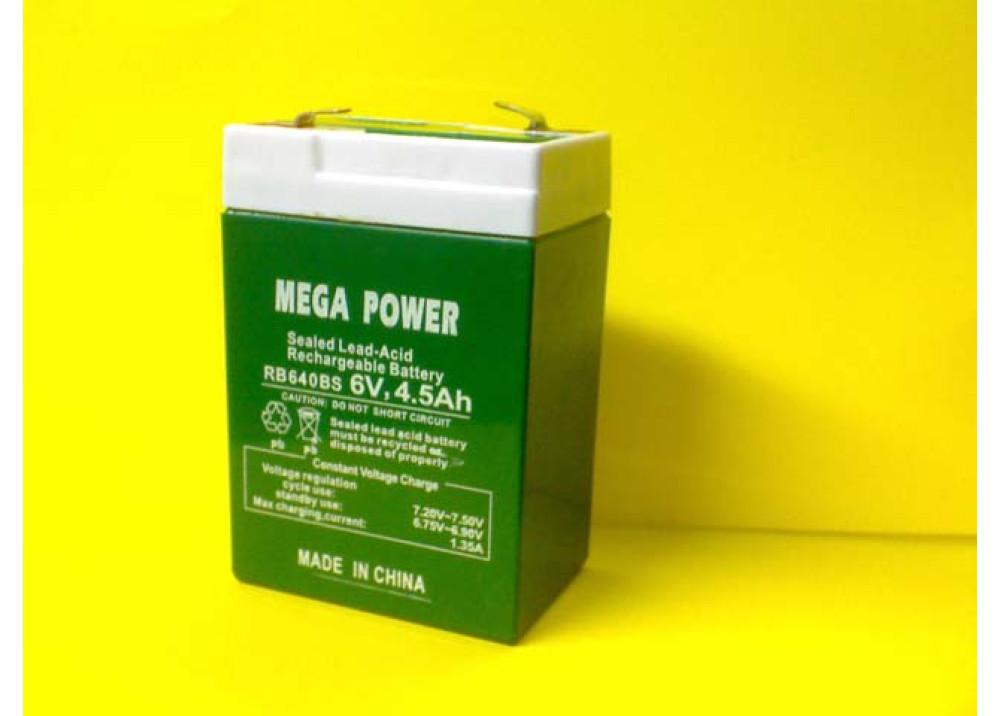 BATTRY MEGA POWER 6V 4.5A