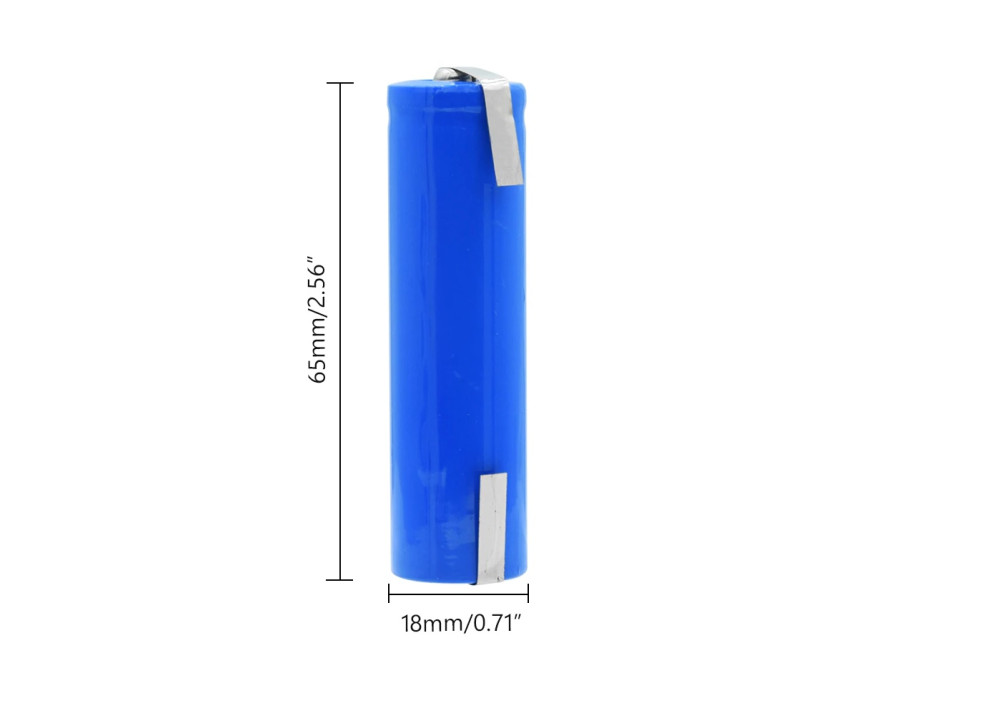 Lithium-ion Battery ICR18650 3.7V 4800mAh soldered