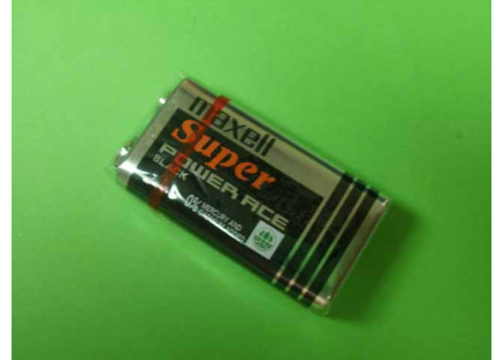 Maxell Super Heavy Duty Batteries 9V Size 1-pc Shrink pack - 6F22(AB)9V
