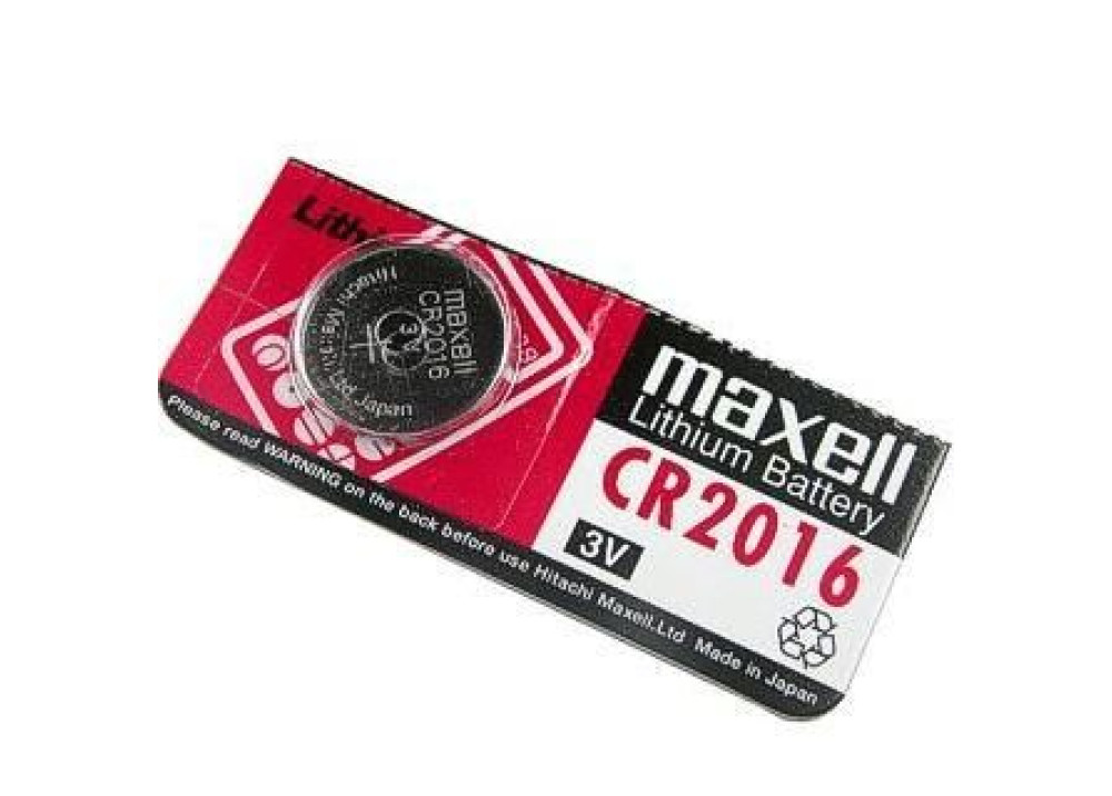 CR2016 Maxell Lithium Coin Cell Battery 1 pack