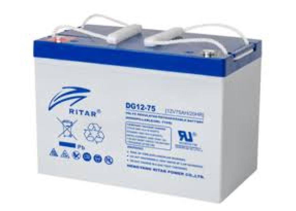 Deep Cycle GEL Battery  RITAR DG12-75  12V 75A