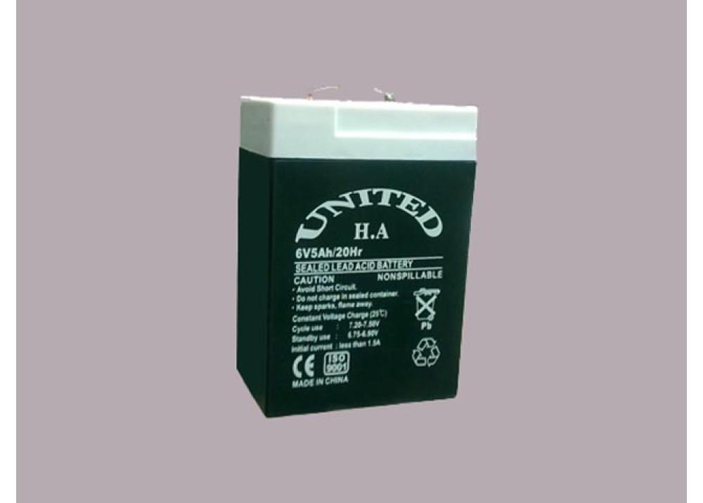 BATTERY UNITED 6V 5A