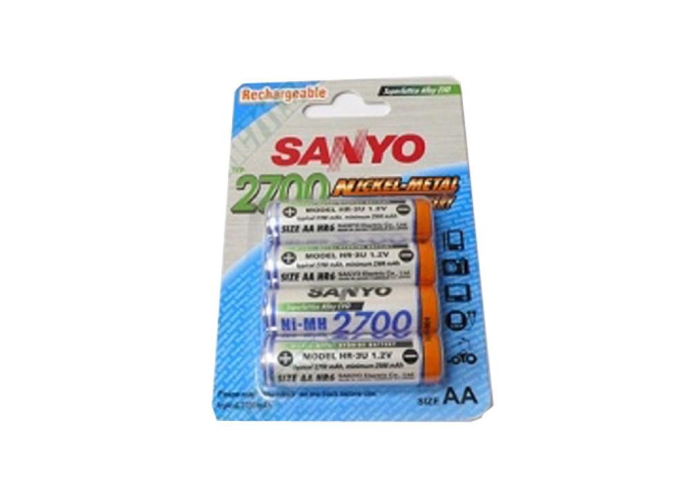 SANYO HR-3U-4BP-2700 1.2V AA 2700mA 4PCS