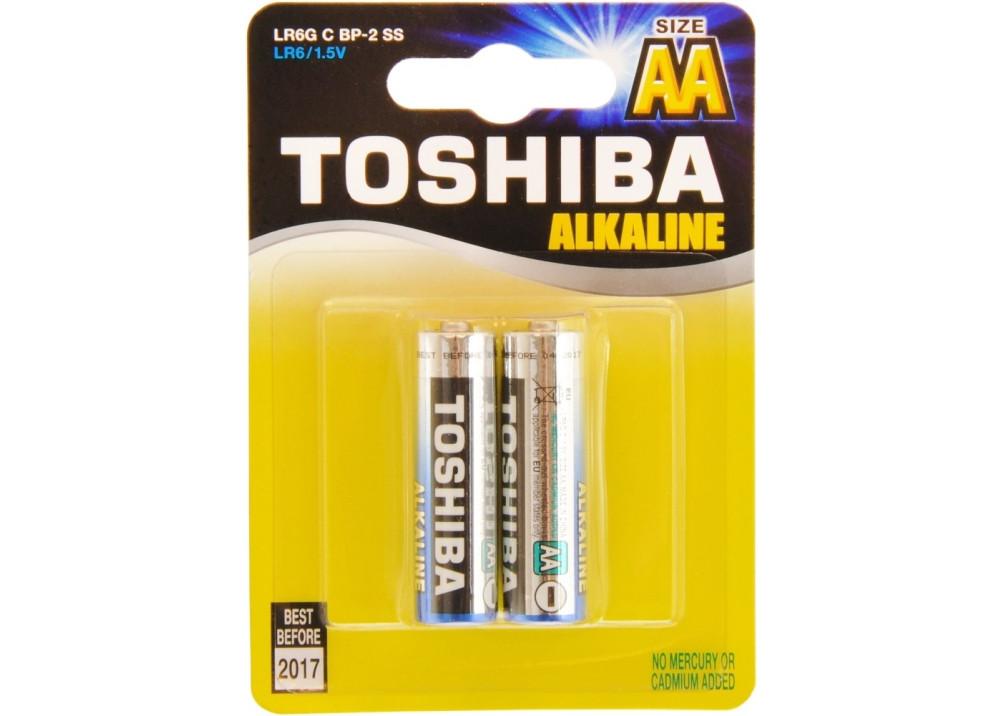 Battery Toshiba Alkaline LR6G C BP-2 AA 1.5V 2PCs