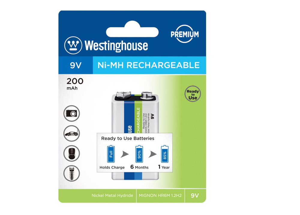 Westinghouse battery Ni-MH Rechargeable – NH-9V200ARBP1