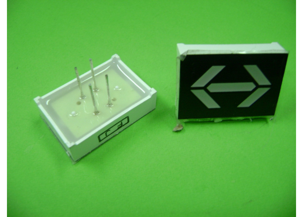 LED TWO ARROWS RED 32X22MM