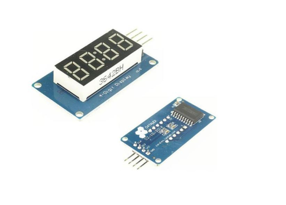 Arduino IoT 4 Digit 7-Segment Display Module With TM1637 Driver