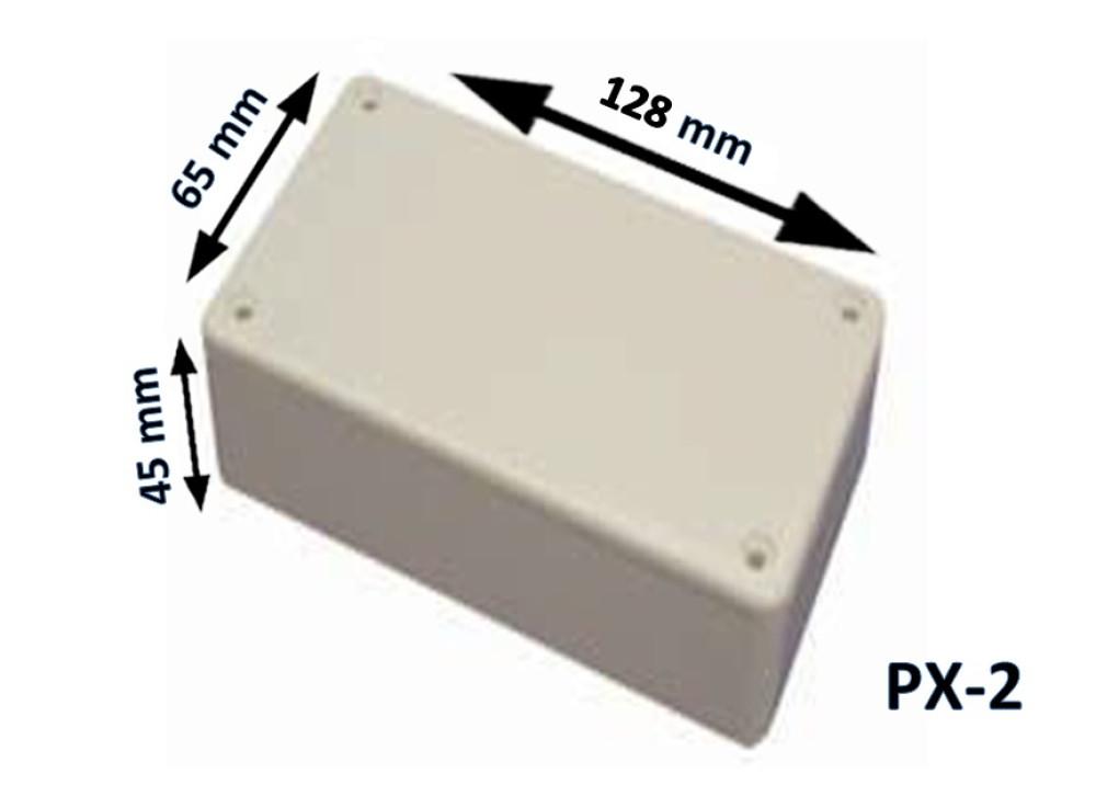 Plastic Box Enclosure PX-2 128x65x45 mm