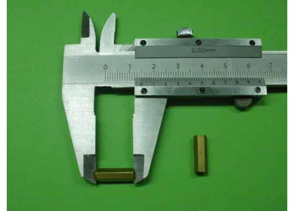 Spacer Brass M3 15mm 4.5mm 4.5mm FF