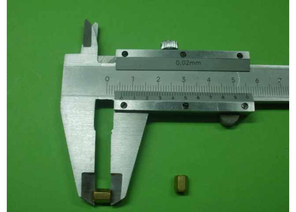 Spacer Brass M3 6mm 6mm 3mm FF