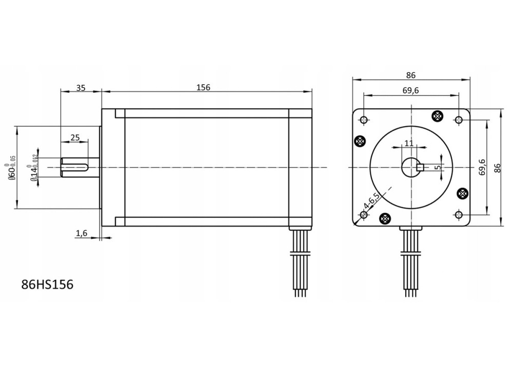 Arduino STEPPER MOTOR 4 Wire NEMA 34 86HS156-5504A