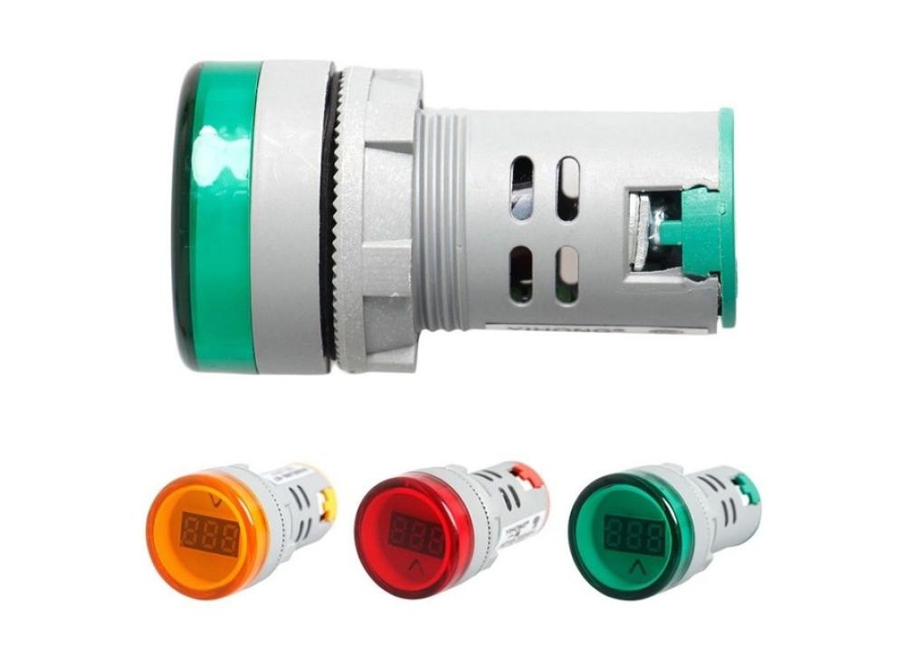 Digital display 60~500V AC  Voltmeter Combined indicator light 22mm