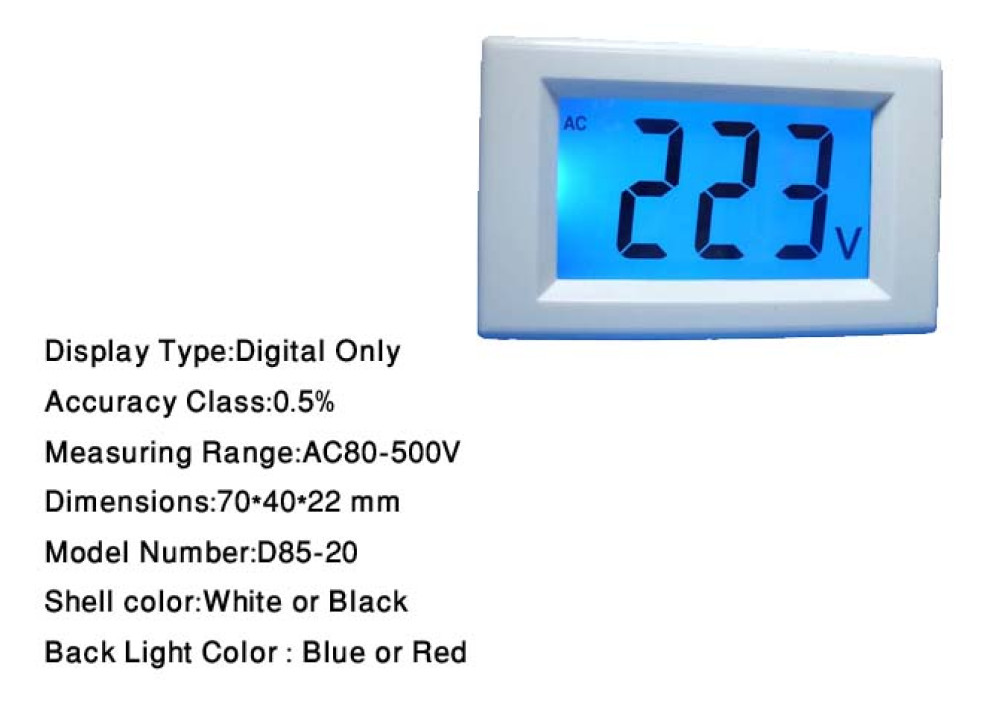 DIGITAL PANEL METER D85-20 AC80~500V