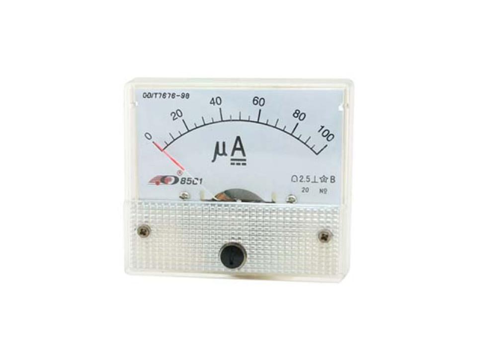 ANALOG PANEL METER 85C1 DC 0~100uA