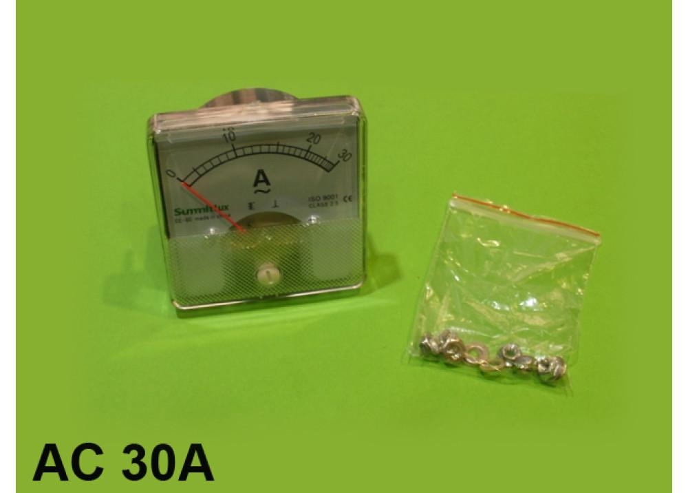 Panel meter AMP 6x6CM 30A AC