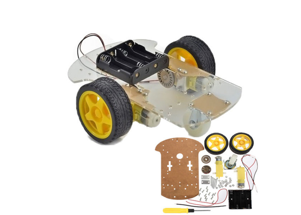 Robot 2 Wheels Drive Chassis Kit For Arduino
