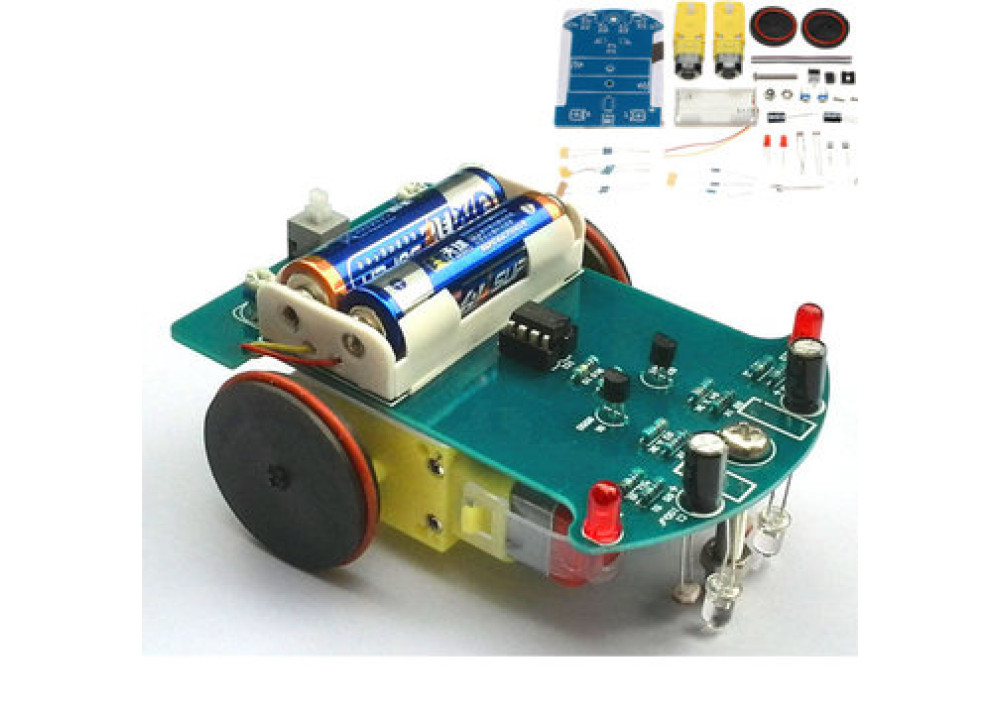 D2-1Smart Robot Tracking Car Kit 3V Small Smart Car DIY Kit