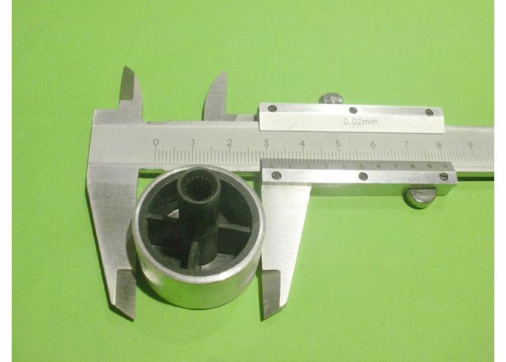 Knob Silver Aluminum Variable Resistor 30mm