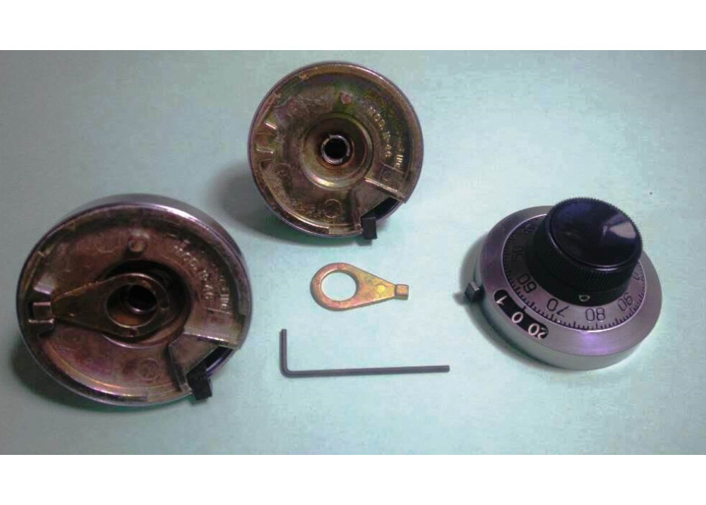 Knobs & Dials DIAL - 46mm, 0-20 TURNS COUNTING H-46-6M Shaft Diameter  6mm