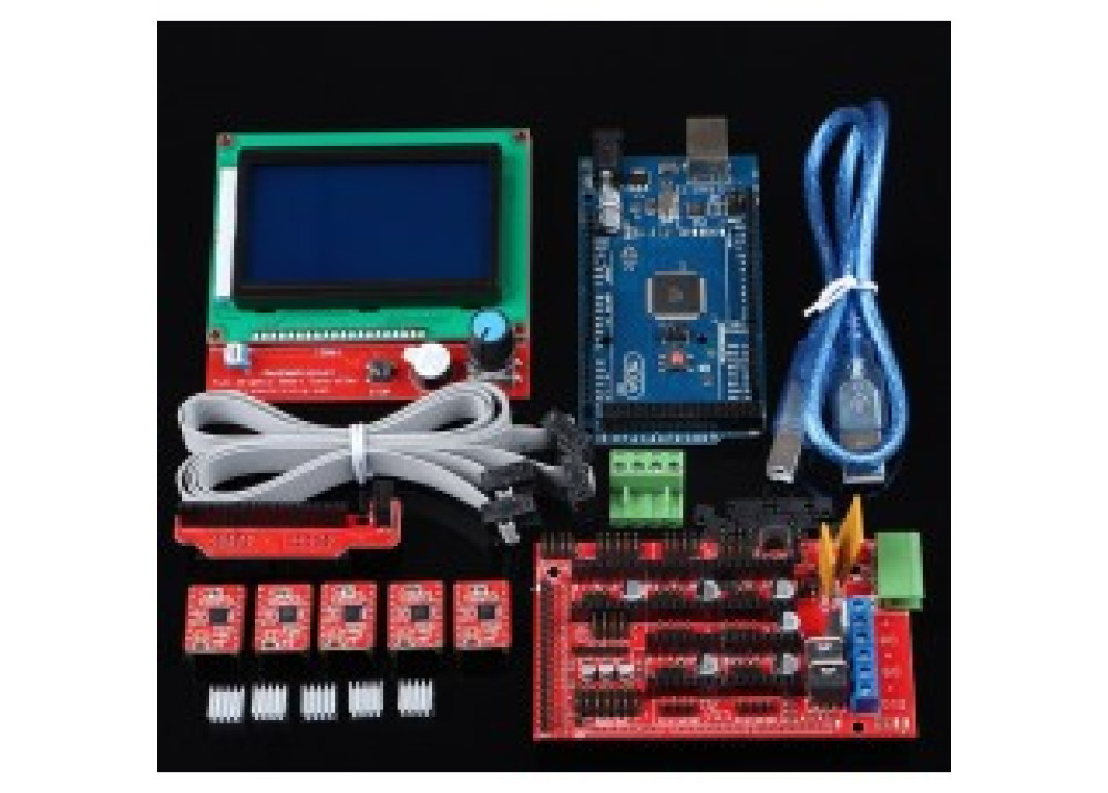 3D printer kit with 12864 LCD control panel