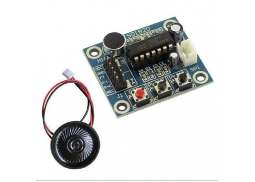 Arduino ISD1820 Sound Voice Audio Mic Recording Playback Module With Mic Sound Audio Loudspeaker