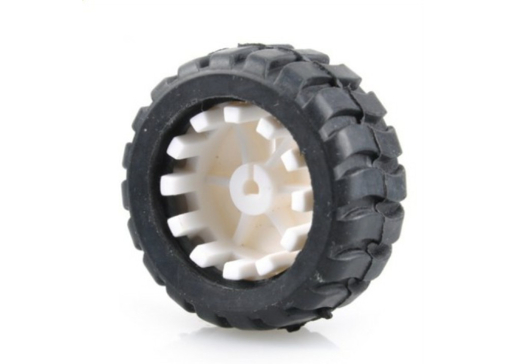 Rubber  Tire Wheel 42x18.7mm for Arduino 1.Pc