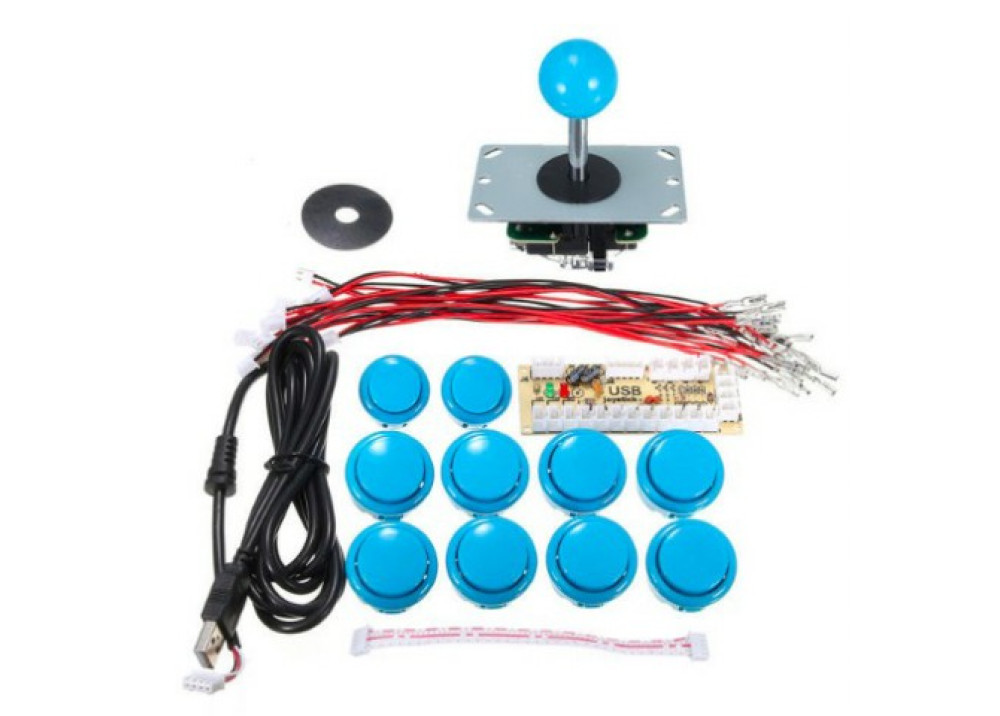 DIY Arcade Game Controller USB Joystick Kit-Blue