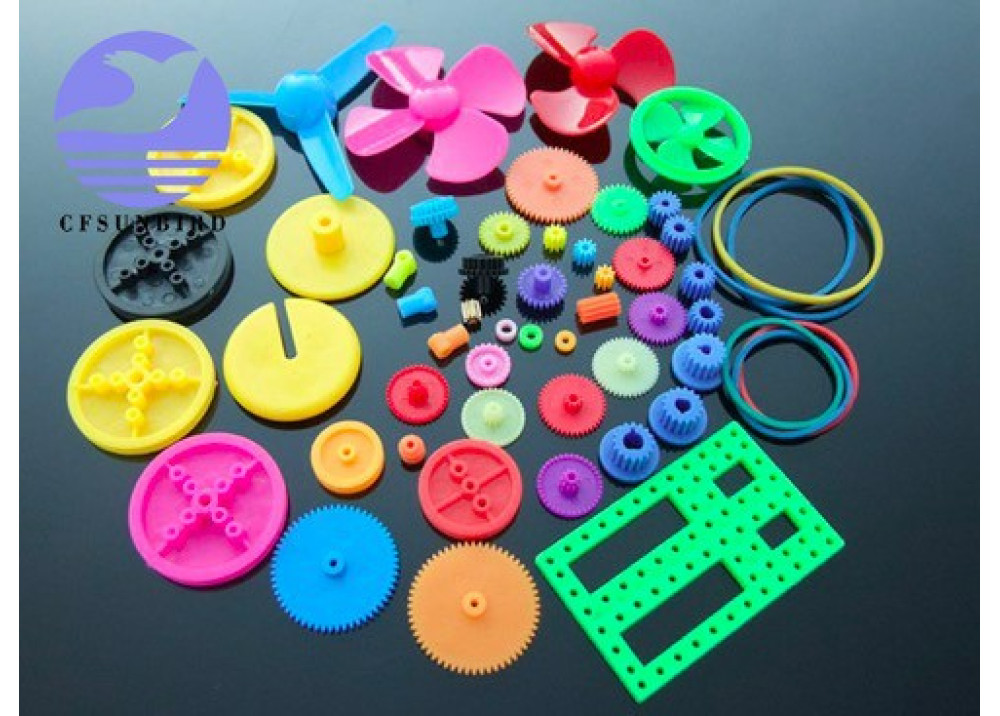 Colorful, DIY 55 kinds of color plastic gear package, transmission toy car, gear motor, motor gear