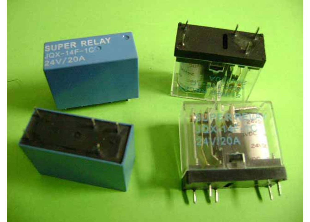 RELAY 24V 20A 5P 1C JOX