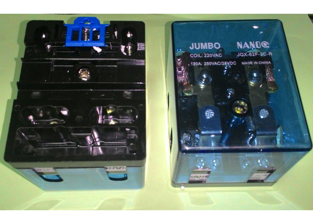 RELAY JQX-62-R2Z-AC240V NANCO 220VAC 250VAC 120A 250VAC/28VDC