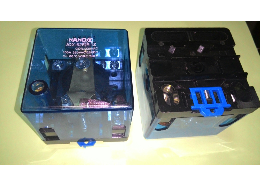 RELAY JQX-62-R1Z-AC240V NANCO 220VAC 250VAC 100A 250VAC/28VDC