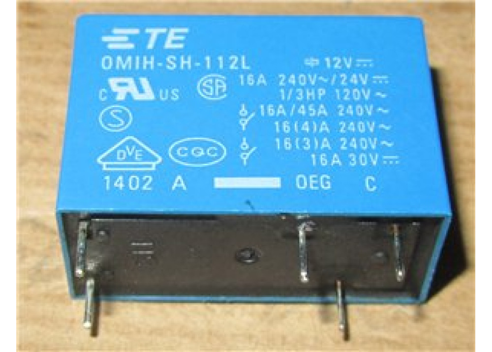 Relay 12V 16A 5P OMIH-SH-112L