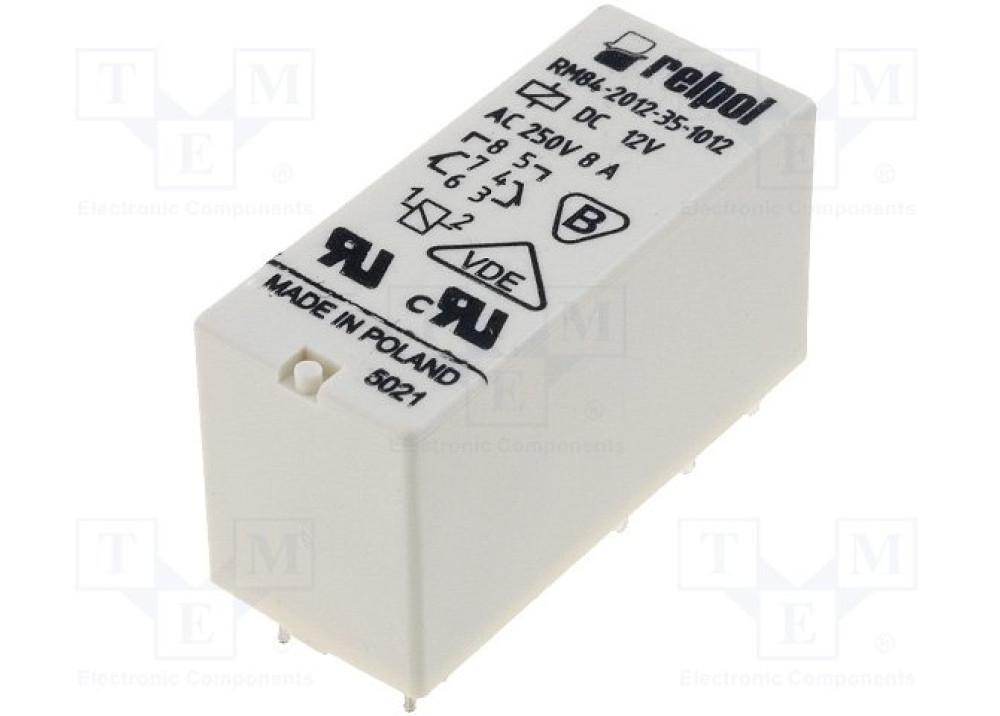 Relpol Relay 12V DC 8A 8P RM84-2012-35-1012