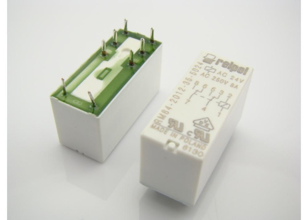 Relpol Relay 24V AC 8A 8P RM84-2012-35-5024