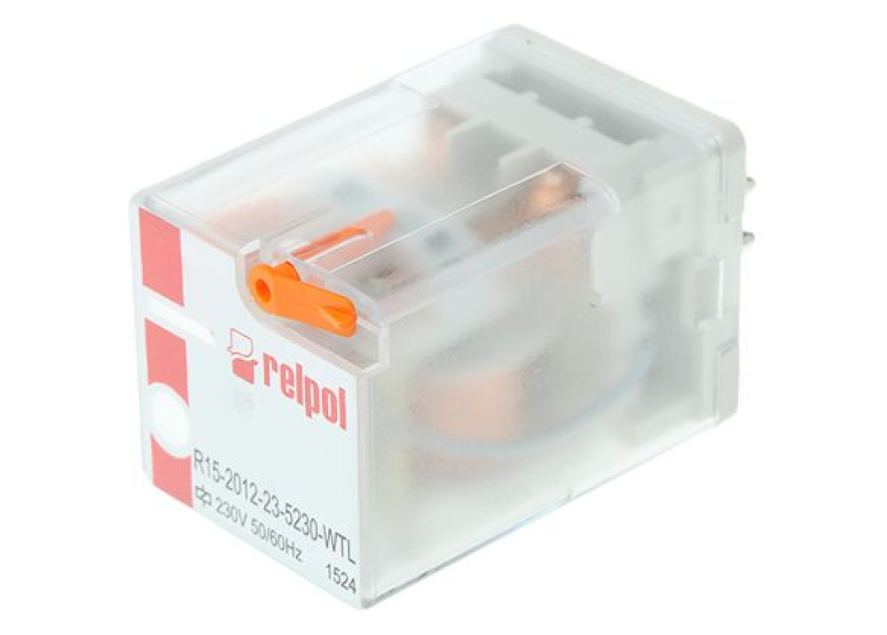 Relpol Relay 220V AC 10A 2C 8P R15-2012-23-5230-WT