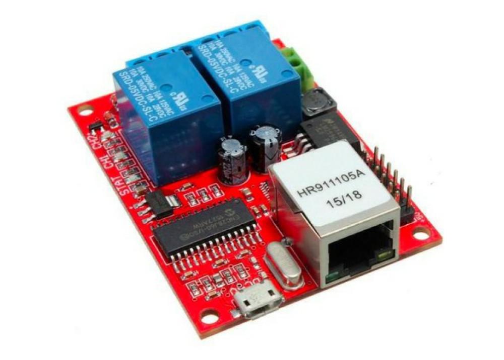 Arduino Relay Module Board  LAN Ethernet 2CH  SRD-5VDC-SL-C  T73 5VDC 10A