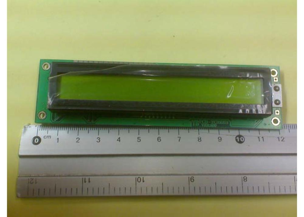 LCD CHRACTER 16X1 YC-1601B-SBYA-I-B-A00