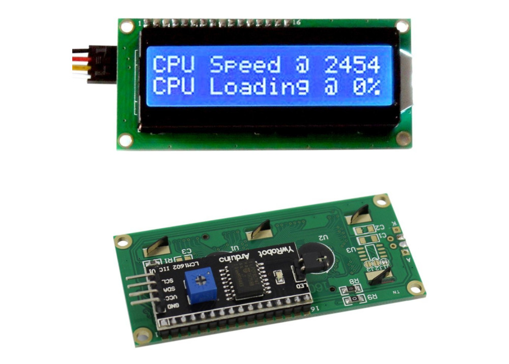 LCD Characters 16X2 with IIC/I2C Blue