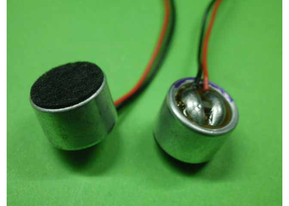 Electret Condenser Mic Elements SMALL MIC WITH WIRE 4x9.7