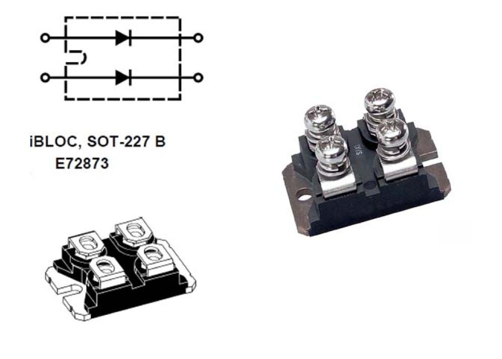 Diode DSEI2X61-12B 2X60A 1.200V 40ns ISOTOP