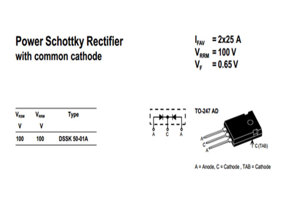 Schottky Diode DSSK50-01A 100V 50A TO-247