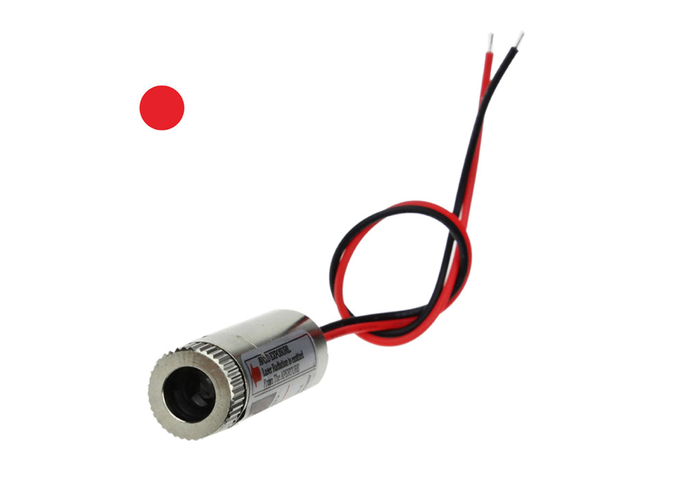 Point Point Laser Diode 12mm Size 650nm 5V 5mW Red Point laser