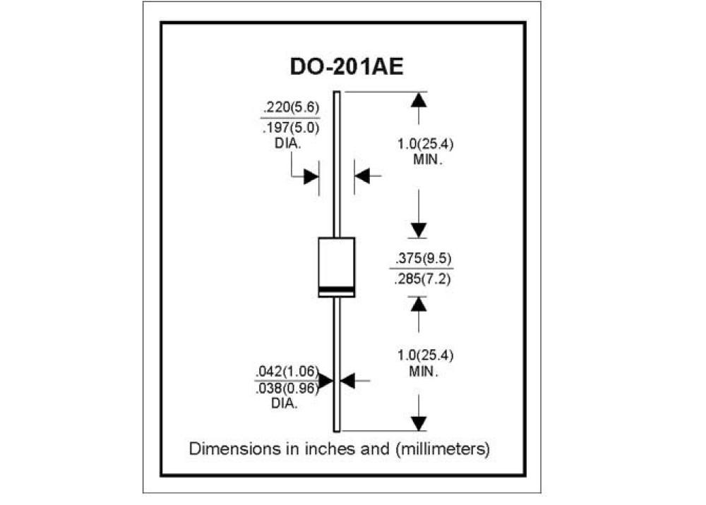 Diode 1.5KE200A DO-201AE, Axia