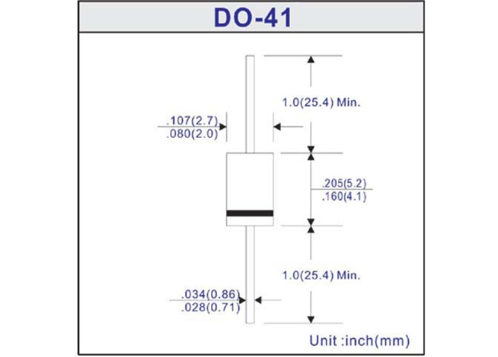 Diode RGP15BS 100V 1.5A 150ns DO-41