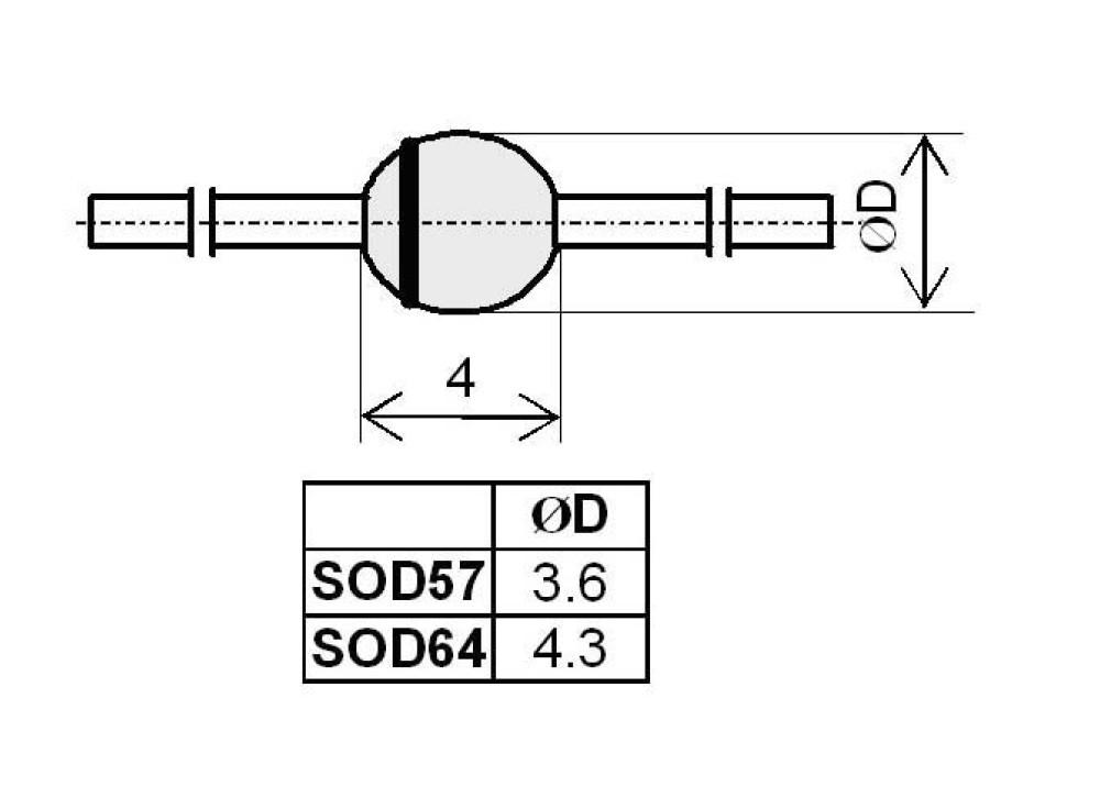 Diode BYW96E 1000V 3A 300ns SOD-64