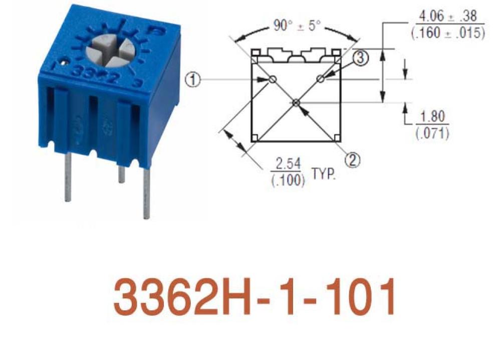 Cermet Trimming Potentiometer 3362H 100R