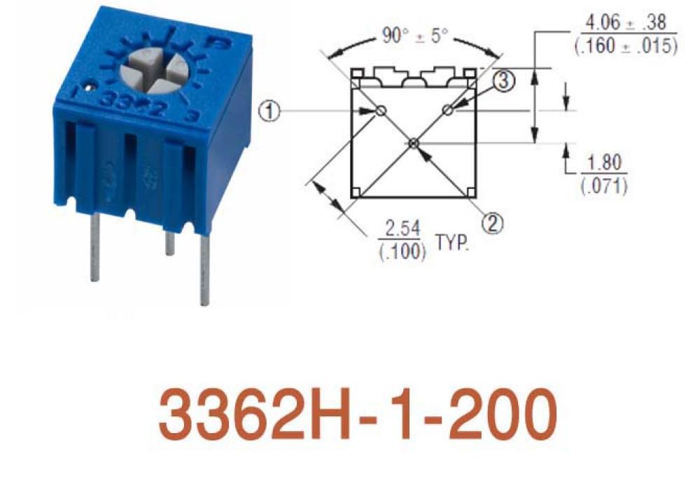 Cermet Trimming Potentiometer 3362H 20R