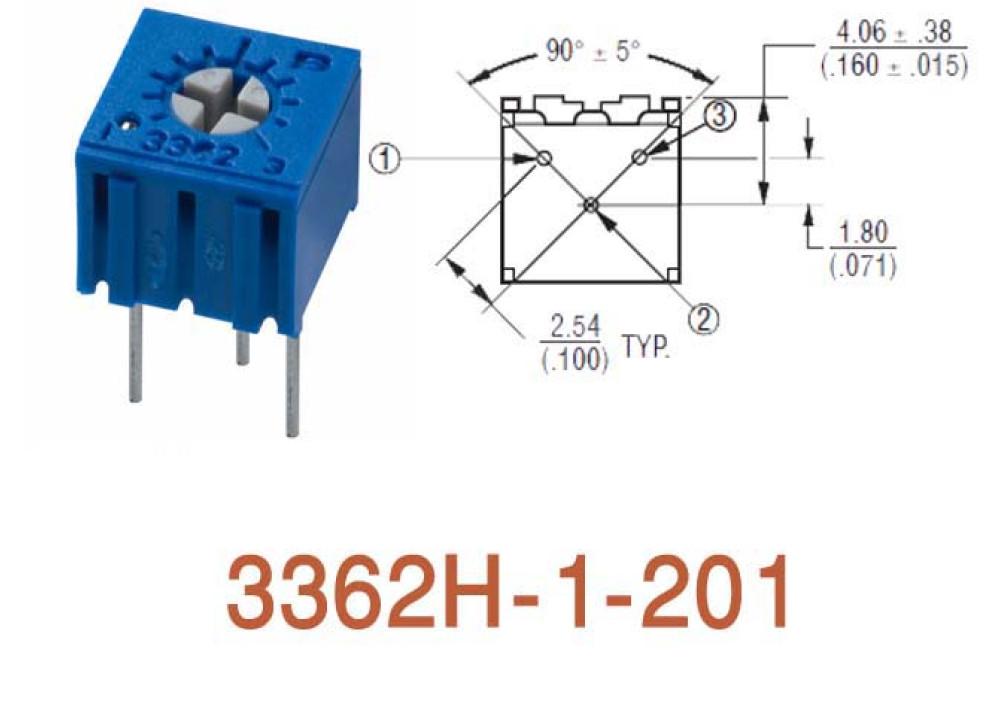 Cermet Trimming Potentiometer 3362H 200R