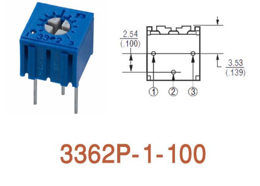 Cermet Trimming Potentiometer 3362P 10R