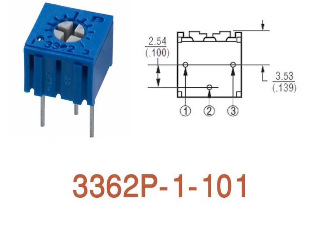 Cermet Trimming Potentiometer 3362P 100R
